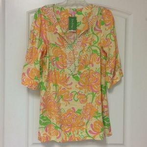 Lilly Pulitzer Boca Tunic Print Beaded